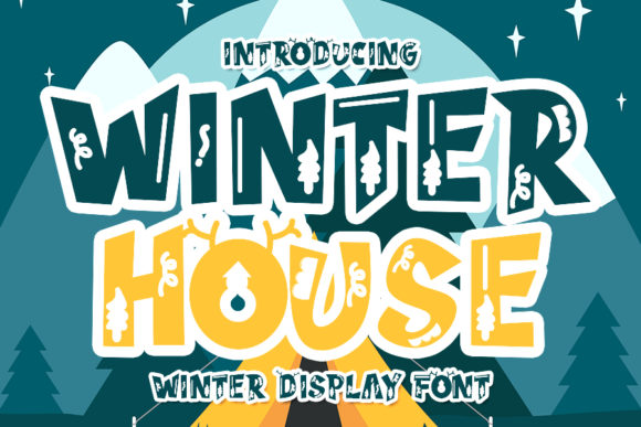 Print on Demand: Winter House Display Font By Eddygoodboy