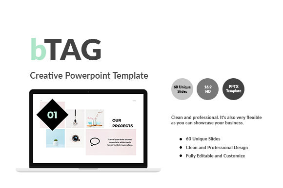 BTAG - Creative Powerpoint Template Graphic Presentation Templates By KHIDD