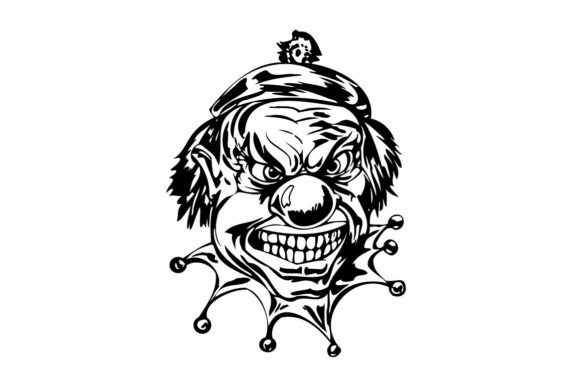 Print on Demand: Haloween Scary Clown Graphic Illustrations By nisakaart