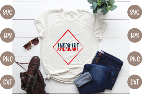 4th of July T Shirt Design Graphic Download