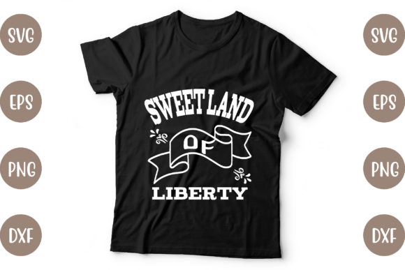 4th of July T Shirt Design Graphic