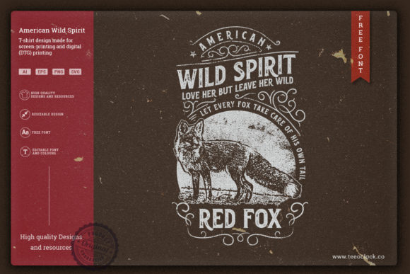 American Wild Spirit Graphic Illustrations By teeoclock.co