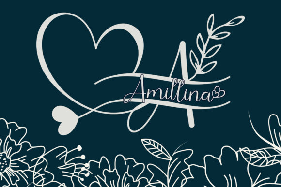Print on Demand: Amillina Monogram Script & Handwritten Font By AEN Creative Studio
