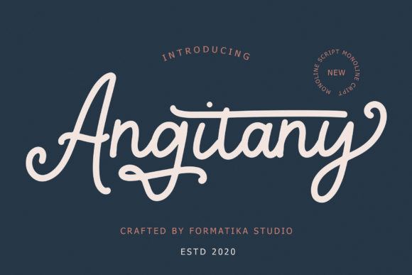 Print on Demand: Angitany Script & Handwritten Font By formatikastd