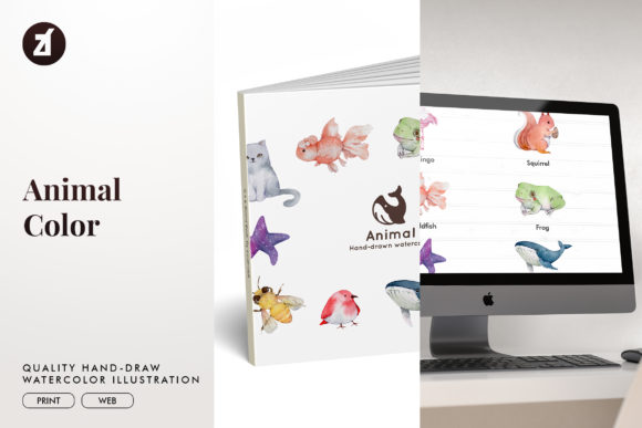 Animal Watercolor Illustration Graphic Illustrations By Chanut is watercolor