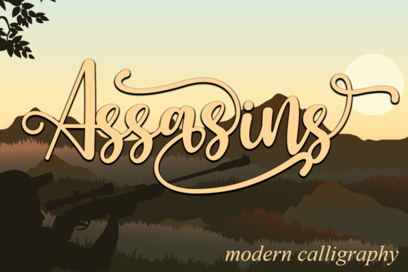 Print on Demand: Assasins Script & Handwritten Font By Supersemar Letter
