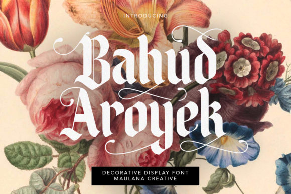 Print on Demand: Bahud Aroyek Display Font By Maulana Creative