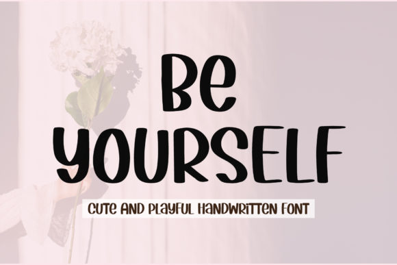 Print on Demand: Be Yourself Manuscrita Fuente Por AquariiD