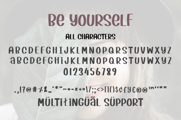 Be Yourself Font Item