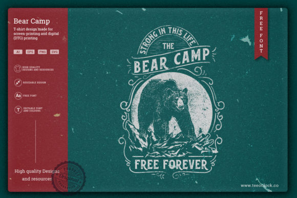 Bear Camp Graphic Illustrations By teeoclock.co