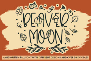 Print on Demand: Beaver Moon Script & Handwritten Font By freelingdesignhouse