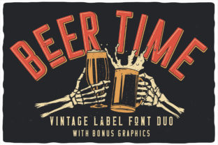 Print on Demand: Beer Time Display Font By Vozzy Vintage Fonts And Graphics