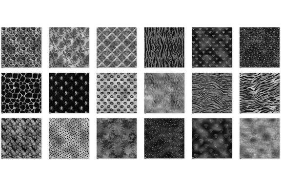 Black and Silver Glam Digital Paper Graphic Item