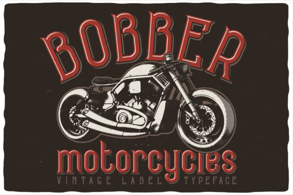 Print on Demand: Bobber Motorcycles Display Font By Vozzy Vintage Fonts And Graphics