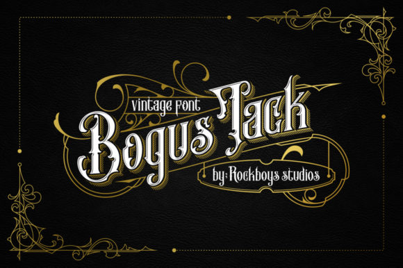 Print on Demand: Bogus Jack Blackletter Font By RockboyStudio
