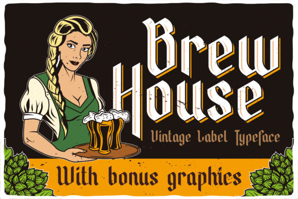 Print on Demand: Brew House Blackletter Font By Vozzy Vintage Fonts And Graphics