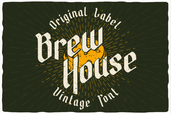 Brew House Font Design