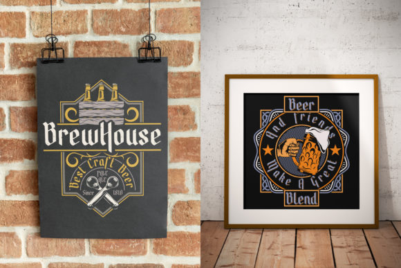 Brew House Font Design Item