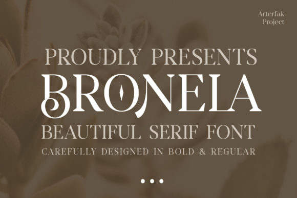 Print on Demand: Bronela Serif Font By Arterfak Project