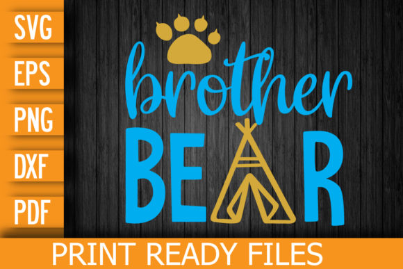 Brother Bear SVG Cut File Graphic Print Templates By Designstore