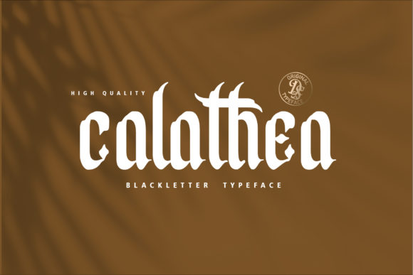 Print on Demand: Calathea Blackletter Font By Dansdesign