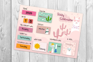 Calendar, Morning Board for Kids Graphic Print Templates By Igraphic Studio