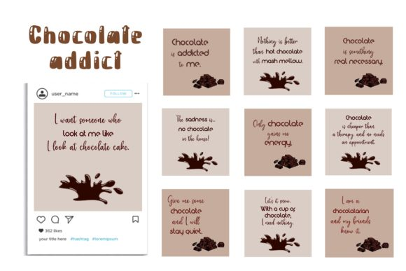 Chocolate Addict Social Media Posts & Ic Graphic Websites By toei.storyline
