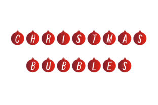 Print on Demand: Christmas Bubbles Decorative Font By Vladimir Carrer