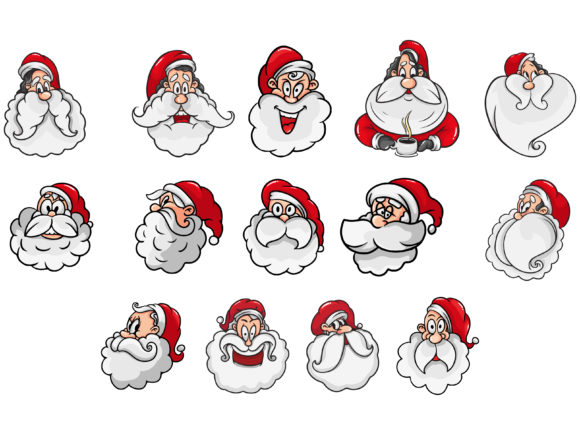 Print on Demand: Christmas Bundle Santa Graphic Illustrations By Blue Ocean