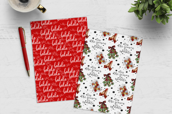 Christmas Digital Paper Pack Graphic Preview