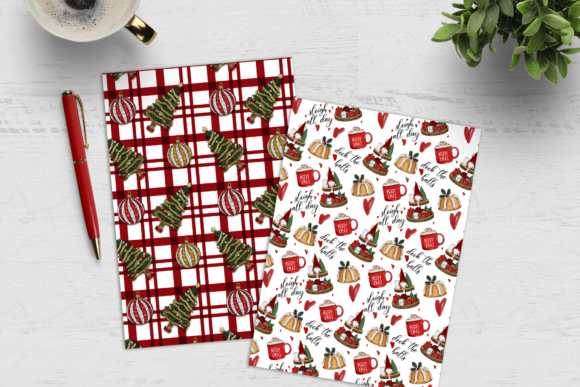 Christmas Digital Paper Pack Graphic Image