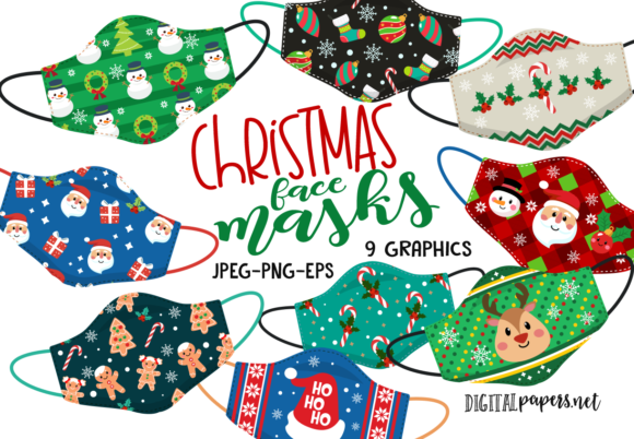 Christmas Face Masks Graphic