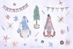 Print on Demand: Christmas Gnome Family Tree Lantern Star Graphic Illustrations By PawStudio 2