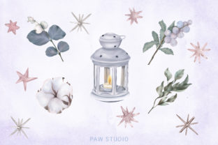 Print on Demand: Christmas Gnome Family Tree Lantern Star Graphic Illustrations By PawStudio 3
