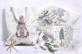 Print on Demand: Christmas Gnome Family Tree Lantern Star Graphic Illustrations By PawStudio 5
