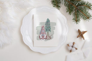Print on Demand: Christmas Gnome Family Tree Lantern Star Graphic Illustrations By PawStudio 8