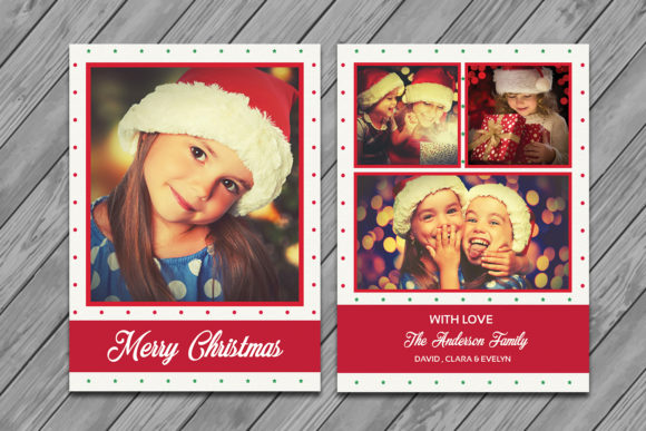 Print on Demand: Christmas Greeting Card Template Graphic Print Templates By sistecbd