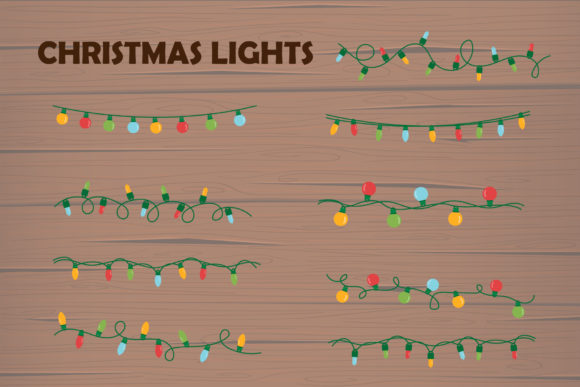 Print on Demand: Christmas Lights for Decoration Winter Graphic Illustrations By IsaraDesign