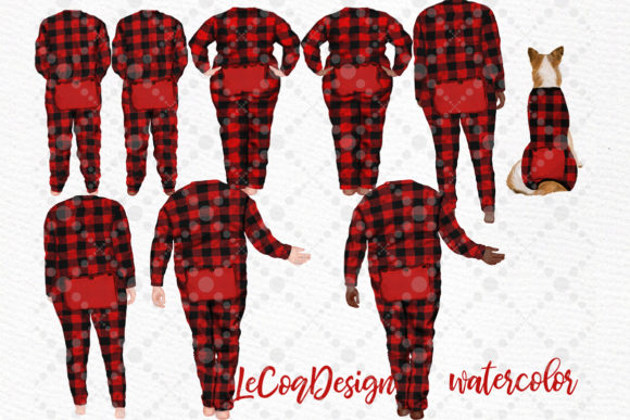 Christmas Plus SIze Family Clipart Graphic Download