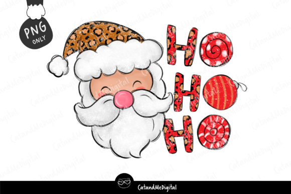 Christmas Santa Sublimation   Graphic Illustrations By CatAndMe