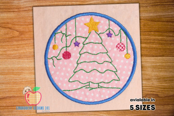 Christmas Tree Christmas Embroidery Design By embroiderydesigns101