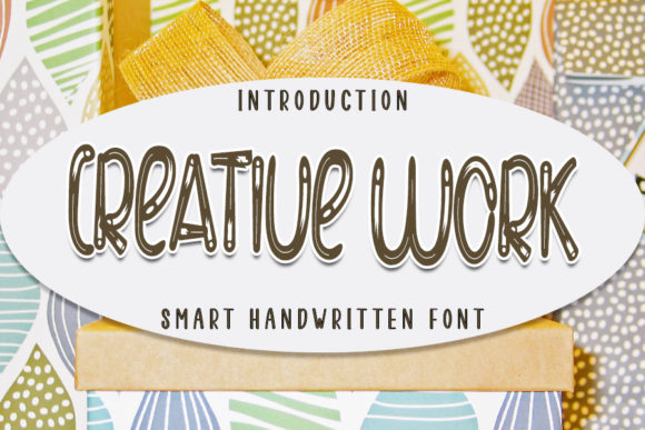 Print on Demand: Creative Work Display Font By NYA Letter