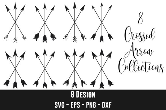 Crossed Arrow Clip Art Bundles Graphic Crafts By creation