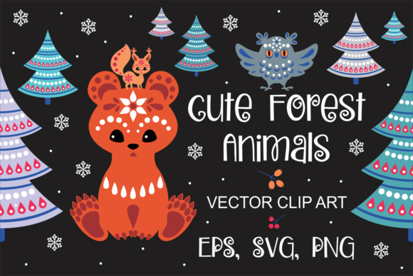 Print on Demand: Cute Forest Animals in Ethnic Style Graphic Objects By Olga Belova