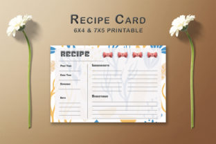 Print on Demand: Decorative Pattern Recipe Card Template Graphic Print Templates By Creative Tacos