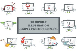 Empty Project Screen Bundle Graphic Illustrations By KongVector2020