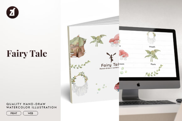 Fairy Tale Watercolor Illustration Graphic Illustrations By Chanut is watercolor