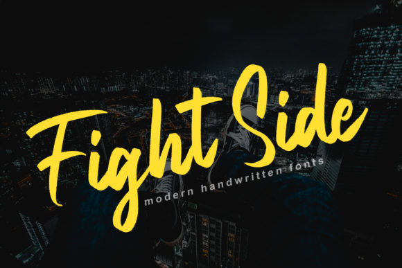 Print on Demand: Fight Side Script & Handwritten Font By FatmaStudio