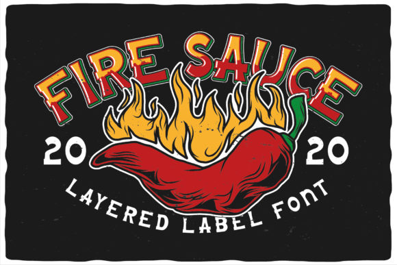 Print on Demand: Fire Sauce Display Font By Vozzy Vintage Fonts And Graphics