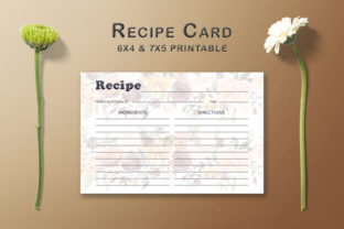 Print on Demand: Floral Arrangement Recipe Card Template Graphic Print Templates By Creative Tacos